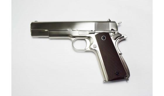 WE 1911 Matt Chrome GBB Pistol